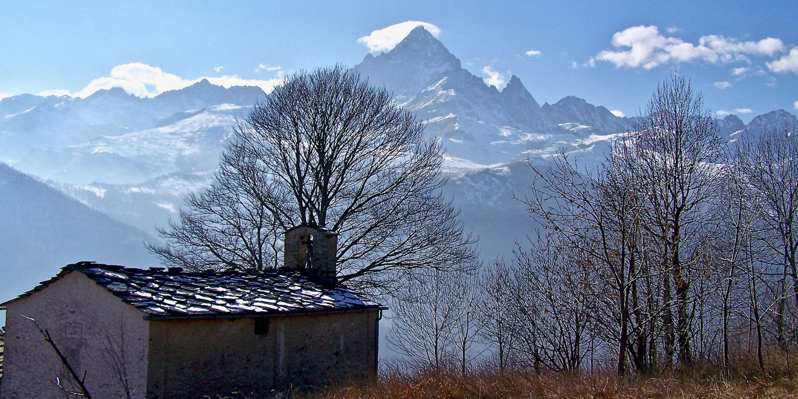 Ostana and the Monviso mountain